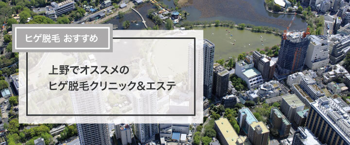 上野でオススメのヒゲ脱毛クリニック&エステ