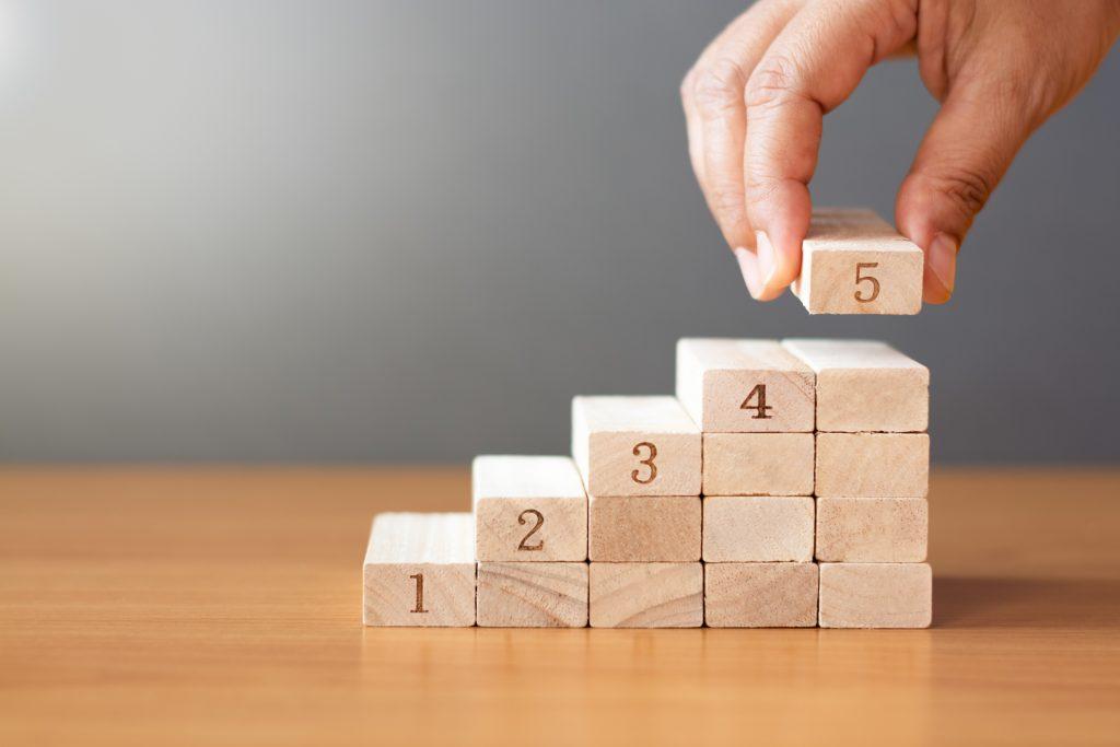 数字のブロックを積み重ねる