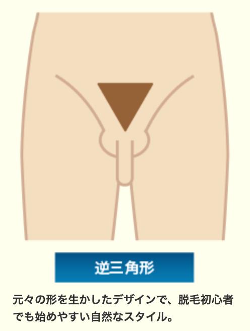 ビキニライン逆三角形