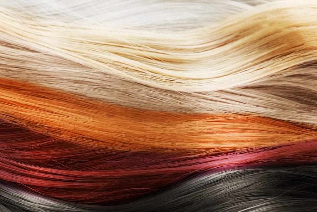 沢山の色の髪