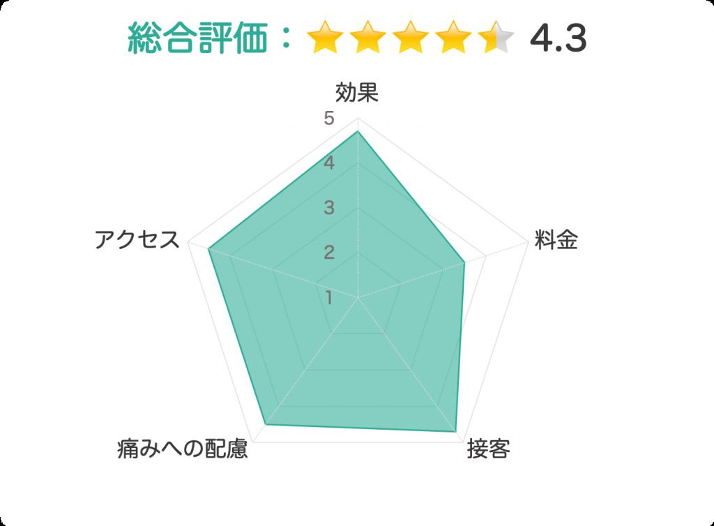表参道スキンクリニック 評価チャート