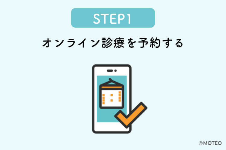STEP1:オンライン診療の予約する