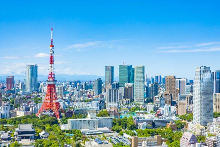 東京の上空写真