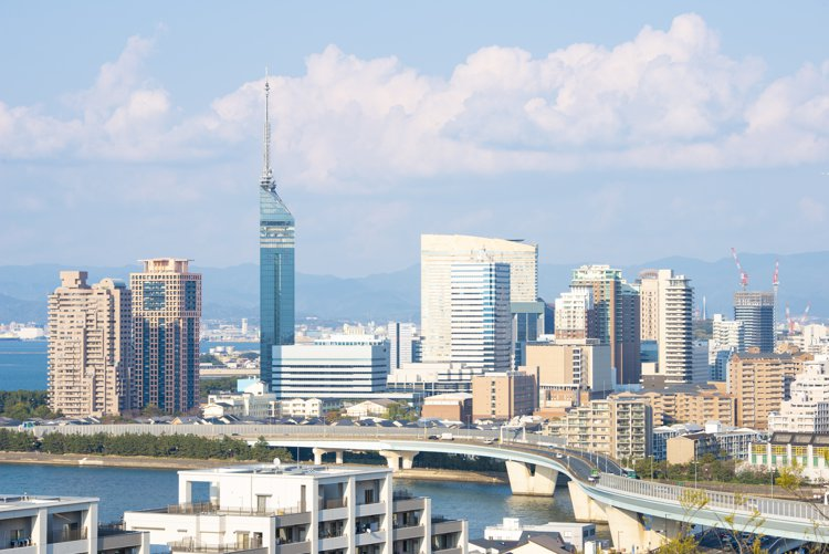 福岡の上空写真